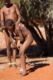 Bushmen sun Royalty Free Stock Photography