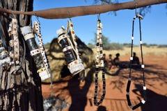 Bushmens village, Kalahari desert, Namibia Royalty Free Stock Image