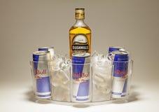 Bushmills e Red Bull Imagens de Stock Royalty Free