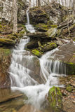 Bushnellsville Falls Spring Flow. Bushnellsville Falls during Spring run-off below Halcott Mountain in the Catskill Mountains of New York Royalty Free Stock Photo