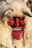 Busho masks. At the traditional Hungarian carnival (Busho Walk) in Mohacs Stock Images