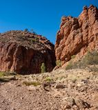 The track leading to Glen Helen Gorge royalty free stock images