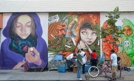 The Bushwick Collective, Brooklyn, NYC Royalty Free Stock Photography
