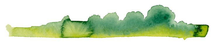 Bushy watercolor painting Royalty Free Stock Photography