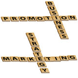 Busi Promotion Mktg Strategy Crossword Puzzle Royalty Free Stock Photos