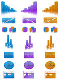 Busienss, economy or finance. Business, economy or finance statistics on seven different way Royalty Free Stock Photography
