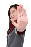 Busienss Woman Stop Gesture Royalty Free Stock Photos