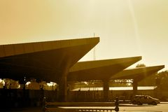 Transport toll plaza - stock Royalty Free Stock Photography
