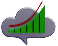 Business cloud and chart icon Stock Photography