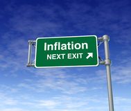 busiiness经济通货膨胀价格上升符号 库存照片