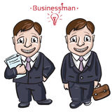Busimess man with money Stock Images