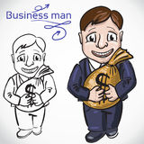 Busimess man with money Stock Photo