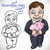 Busimess man with money Royalty Free Stock Photography