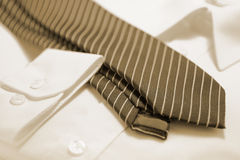Busimness Shirt and Tie Royalty Free Stock Image