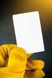 Παραδώστε την εργαζόμενη εκμετάλλευση κενό Busine γαντιών κατασκευής δέρματος Στοκ Εικόνα