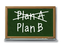 Busine alternativo de las hojas de operación (planning) de la opción de la estrategia del plan b Fotos de archivo libres de regalías