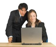 Businees couple with laptop Royalty Free Stock Image