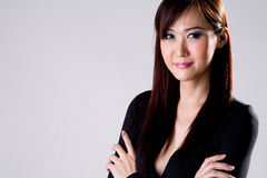 Businees woman with confidence smile stock photo