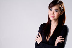 Businees woman with confidence smile Stock Images
