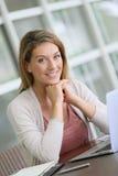 Busineesswoman op het werk Royalty-vrije Stock Foto