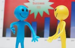 busines που συζητούν smilies δύο Στοκ Εικόνες