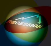 рецессия принципиальной схемы busines Стоковая Фотография