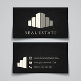 Busines card template. Real estate logo Stock Image