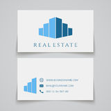 Busines card template. Real estate logo Royalty Free Stock Photos