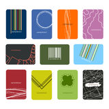 Busines Cards seven Royalty Free Stock Images
