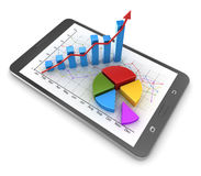 Busines concept with touch screen tablet Royalty Free Stock Image