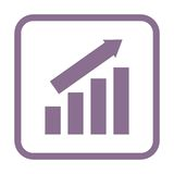 Busines finance graph icon Stock Image