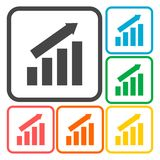 Busines finance graph icons set. Vector icon Stock Photos