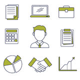 Business Icon Vector. Business icon with flat outline style Stock Images