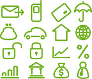 Busines icons set. Finance and Banking icons set Stock Photography