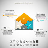 Busines Infographic Royalty Free Stock Photo