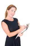 busines isolerade sekreterarewhitekvinnan Arkivbild
