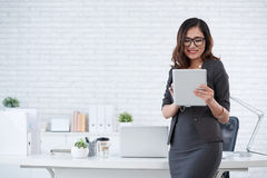 Busines lady with digital tablet Stock Image