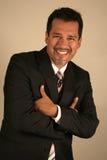 Busines Latin Man. Smiling Latin Executive dressing black Stock Photography