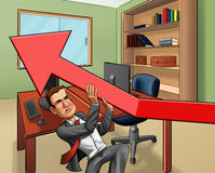 Busines man and the arrow Stock Image