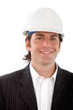 Busines man with a helmet Stock Photo