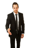 Busines man ready to shake hands Royalty Free Stock Photo