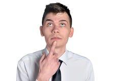 Busines man thinking Royalty Free Stock Photo