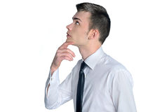 Busines man thinking Stock Images