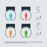 Busines People Infographics Stock Image