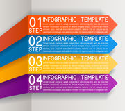 Busines Plan Four Steps Royalty Free Stock Photography