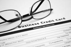 Busines s par la carte de crédit Image stock