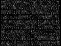 Busines Schattenbilder Lizenzfreies Stockfoto