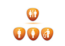 Busines set wc icons Royalty Free Stock Images