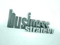 Busines strategy text dark Stock Photo