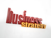 Busines strategy text Stock Photos